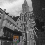 La ville de Strasbourg reproduite dans le jeu Minecraft
